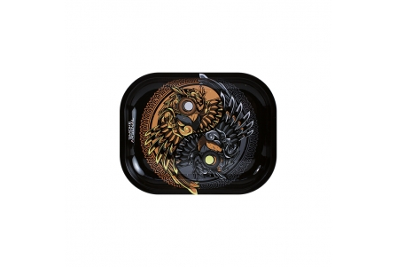 Metal Rolling Tray - Ying & Young - Small 18x14cm