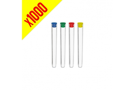 Storage Tubes 140mm - Assorted Colours - 1000 per Box