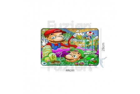Dunkees Silicone Mat Candy Land - 44x28cm