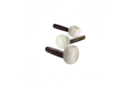 Vegan Ivory Pipes - Natural - 3 per Pack