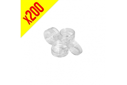 Acrylic Container 5ml - Clear - Bag of 200 units
