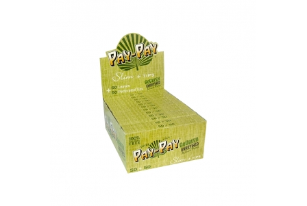 Papel Pay-Pay GoGreen Slim + Tips (24 Booklets)