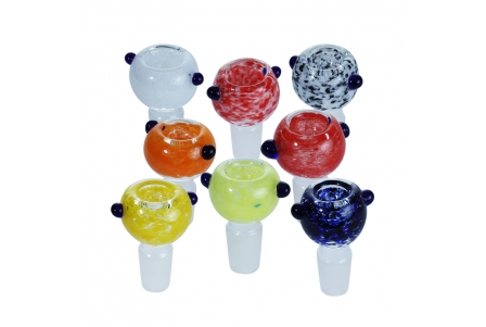 Glass Bowls Mixed Colours 18mm - Pack of 8