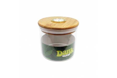 Dank 420 Hygrometer Glass Jar - 95x90mm