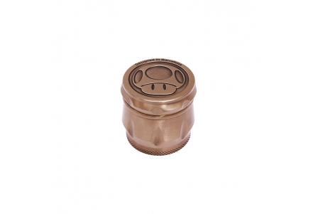 4 Part Embossed Grinder 43x40mm - Mushroom