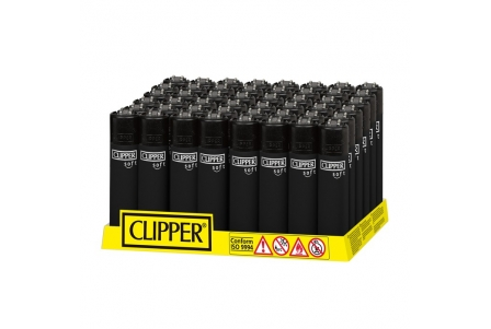 CLIPPER Classic - Soft Touch All Black (display of 48)