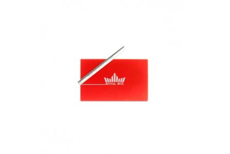 Royal Box with Aluminium Pipe - Red