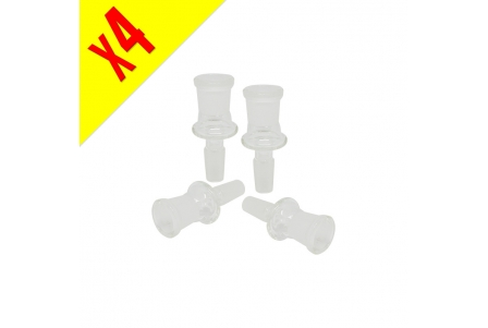 Female 19mm Glass Adaptor for Male 14mm - Pack of 4