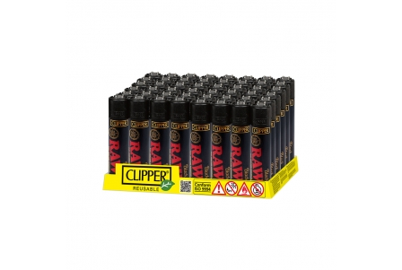 CLIPPER Classic Raw Black - Display of 48