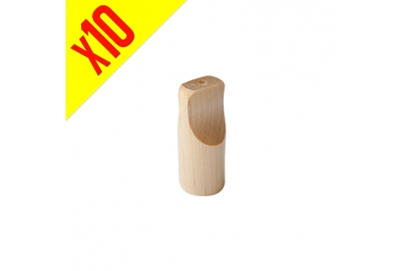 Large Wooden Tip - Pack of 10