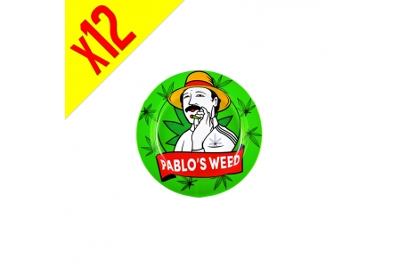 Metal Tin Ashtray Pablo's W - 12pcs