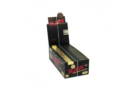 Raw Black Single Wide Single Window - 50 Booklets