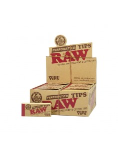 Raw Perforated Wide Tips -...
