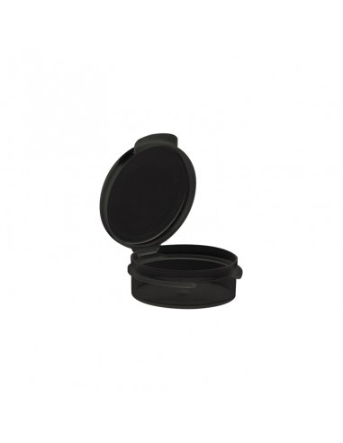 Black PP Container with Hinged Lid -...