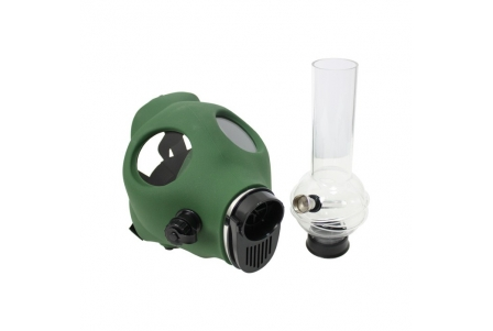 Dark Green Mask with Pipe