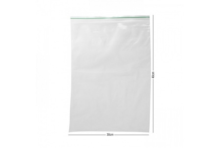 MM ZipLock Baggies Green Line 300 x 400 mm - 0,06 mm - 100 units
