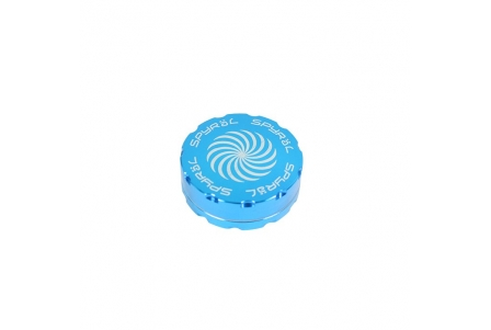 2 Part Spyräl Grinder 17 x 62mm (2.5) - Teal (Light Blue)