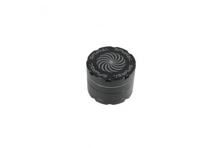 4 Part Spyräl Grinder 43 x 55mm (2.2) - Black