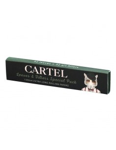 CARTEL Rolling Papers Extra Long 130 mm + Tips (display of 24)