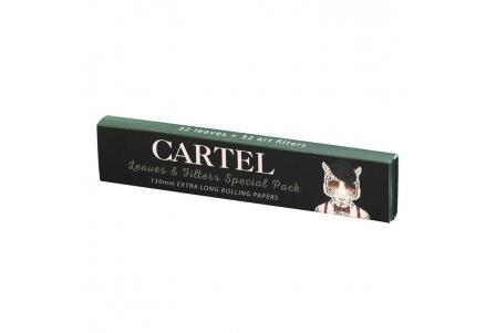 CARTEL Rolling Papers Extra Largo 130mm + Boquillas (Display de 24)