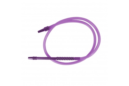 Silicone Hose with Mouthpiece - 190cm - Purple