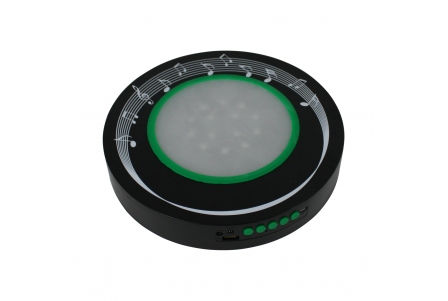 Base de 10 pulgadas con LEDs recargable con altavoz Bluetooth