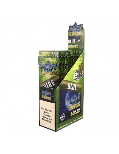 Juicy Hemp Wraps - Blue (2x25 per box)
