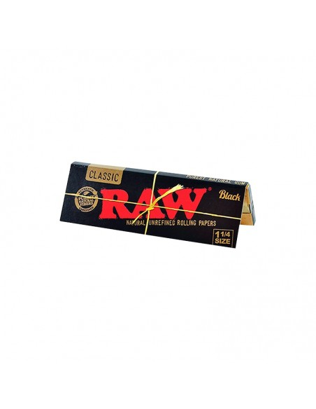 Raw Black 1 1/4 - 24 Booklets