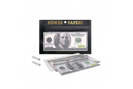 Dollar Rolling Papers with Filter Tips - Display of 12 pouches