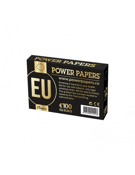 Euro Rolling Papers with Filter Tips - Display of 12 pouches