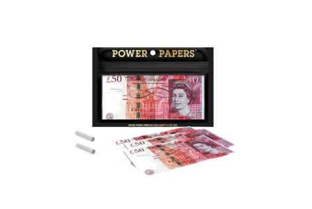 Pound Sterling Rolling Papers with Filter Tips - Display of 12 pouches
