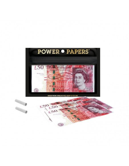 Pound Sterling Euro Rolling Papers with Filter Tips - Display of 12 pouches