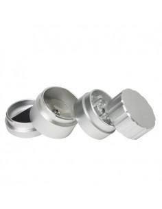 Super Sharp 4 Part Aluminium Grinder - 40x55mm - Silver