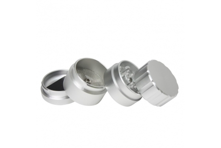 Super Sharp 4 Part Aluminium Grinder - 40x55mm - Silver