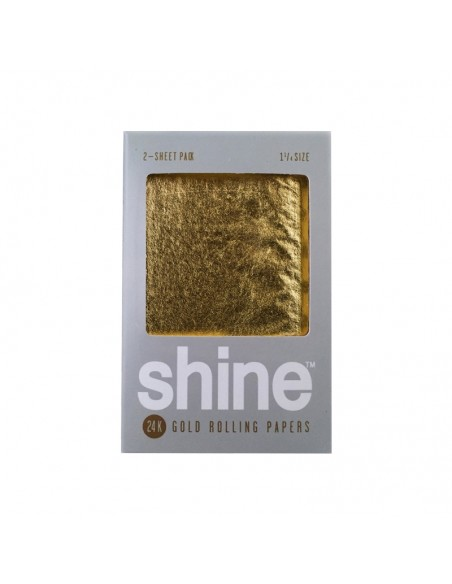 Shine 24K Gold Rolling Papers - Regular - 2 Sheets