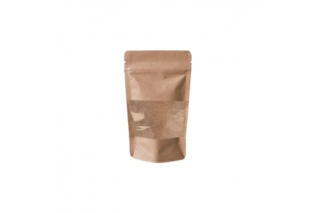 Doypack-Kraft Baggie with Window 85x145mm - 500 units