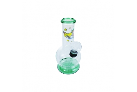 Mini Bubble Bong 13cm - Unicorn Green