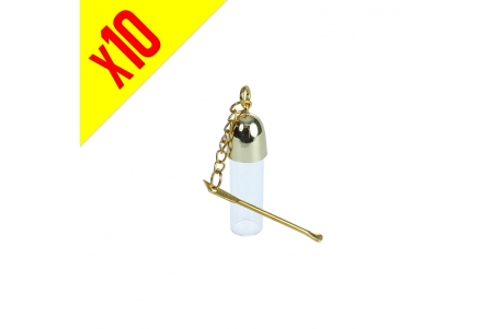 Fancy Vial with Spoon 5.5cm - Pack of 10