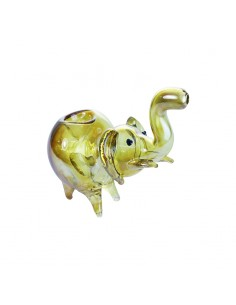 Golden Elephant Pipe Inside Out 12cm