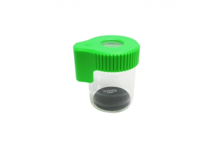 Dank 420 Magnifying LED Glass Jar - Green