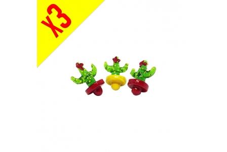 Cactus Glass Caps - Pack of 3