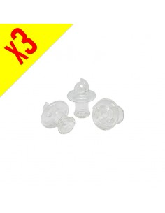 Airflow Clear Glass Cap - Pack of 3