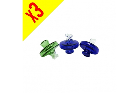 Airflow Colours Glass Cap - Pack of 3