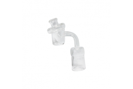Quartz Banger with Airflow Glass Carb Cap - Female 19mm
