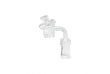 Quartz Banger with Airflow Glass Carb Cap - Female 14mm