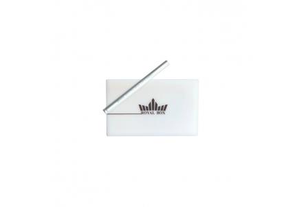 Royal Box with Aluminium Pipe - White