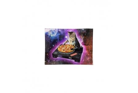 Glass Rolling Tray - DJ Cat - S 16x12cm