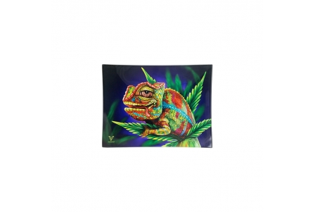 Glass Rolling Tray - Stoned Chameleon - S 16x12cm