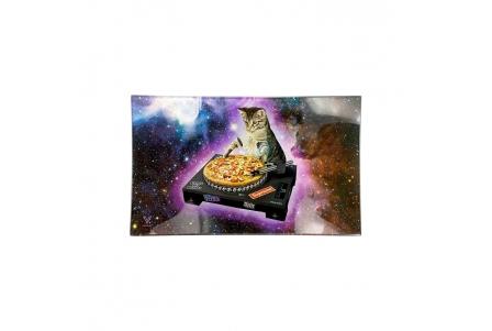 Glass Rolling Tray - DJ Cat - L 26x16cm