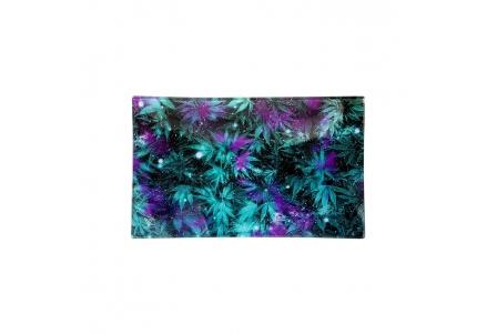 Glass Rolling Tray - W Galaxy - L 26x16cm